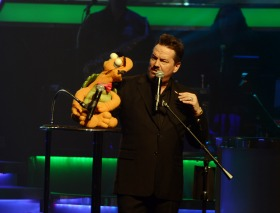 impersonator and puppet at the Mirage