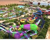aerial shot of water rides