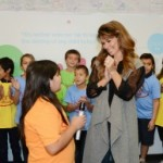 Shania Twain and children