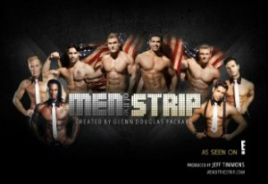 male strippers with banner