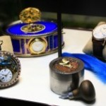 time pieces on table