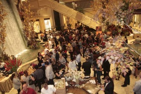 large group at wine festival