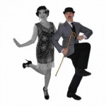 couple dancing with cane