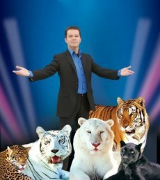 magician with tigers