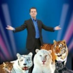 magician and three tigers