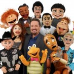 comedian and his puppets