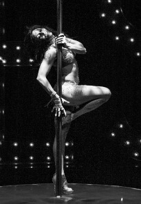 stripper on a pole