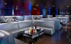 interior nightclub with white furniture