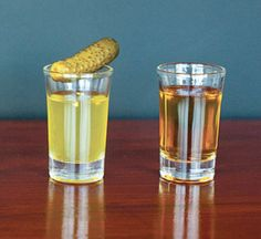 pickle juice shot and whiskey