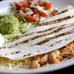 chicken quesadilla on plate