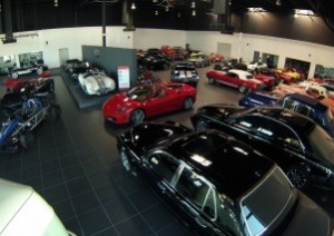 show room of cars