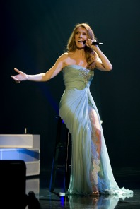 diva in blue gown