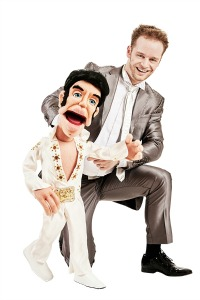 elvis puppet with norse man
