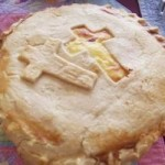 pie crust with crosses