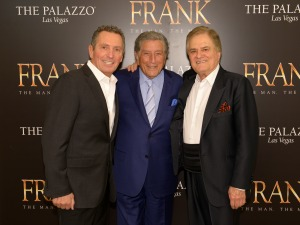 three crooners on red carpet
