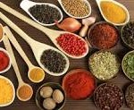 array of spices in spoons