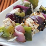 kabobs on a plate