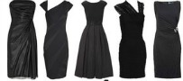 five black dresses