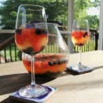 sangria in pitcher and wine glass
