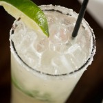 Margarita with salt lime and straw