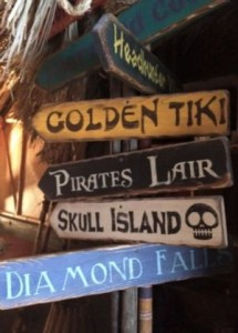 Golden Tiki road signs