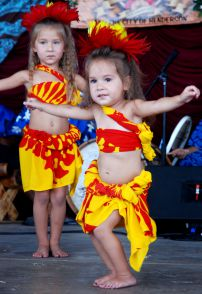 two little hula girls