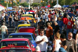 crowd of car lovers