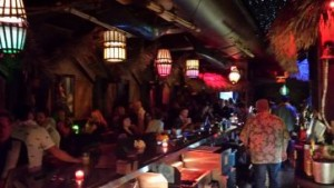 interior of Tiki bar
