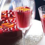 sangria punch bowl and goblet