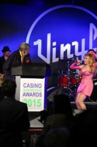 comedian gets award by Charo