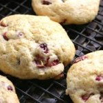cranberry scones on grill