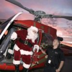 Santa in a helicopter