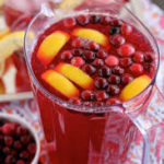 punch with berries and lemon
