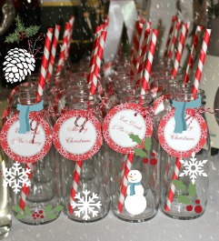 decorated cocktail jars