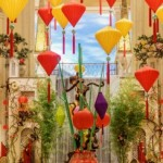 Chines red and gold lanterns