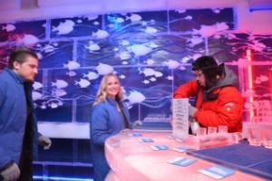 two people in ice bar