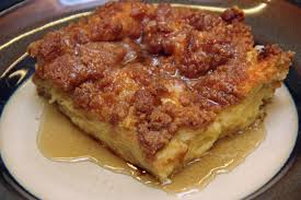 baked French toast on plate