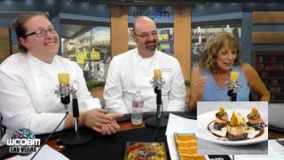 two chefs and host