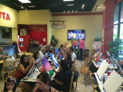 paint party in sandwich shop