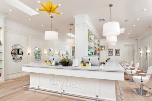 interior of blow dry salon