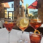 trio of Italian cocktails
