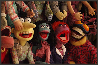 group of uncensored puppets