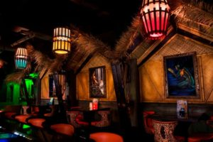 interior tiki bar
