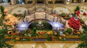 floral atrium decorations