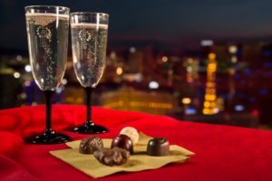 chocolates and champagne