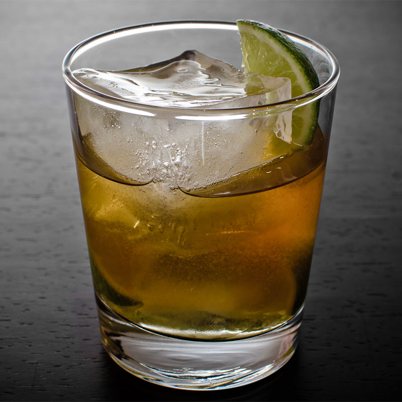 rum cocktail in glass