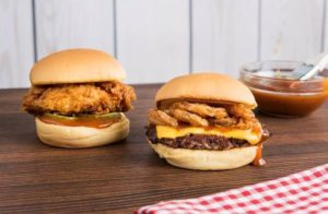 two bbq burgers