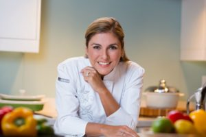 female chef in white