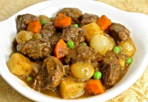 plate of lamb stew