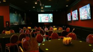 event center with big screen